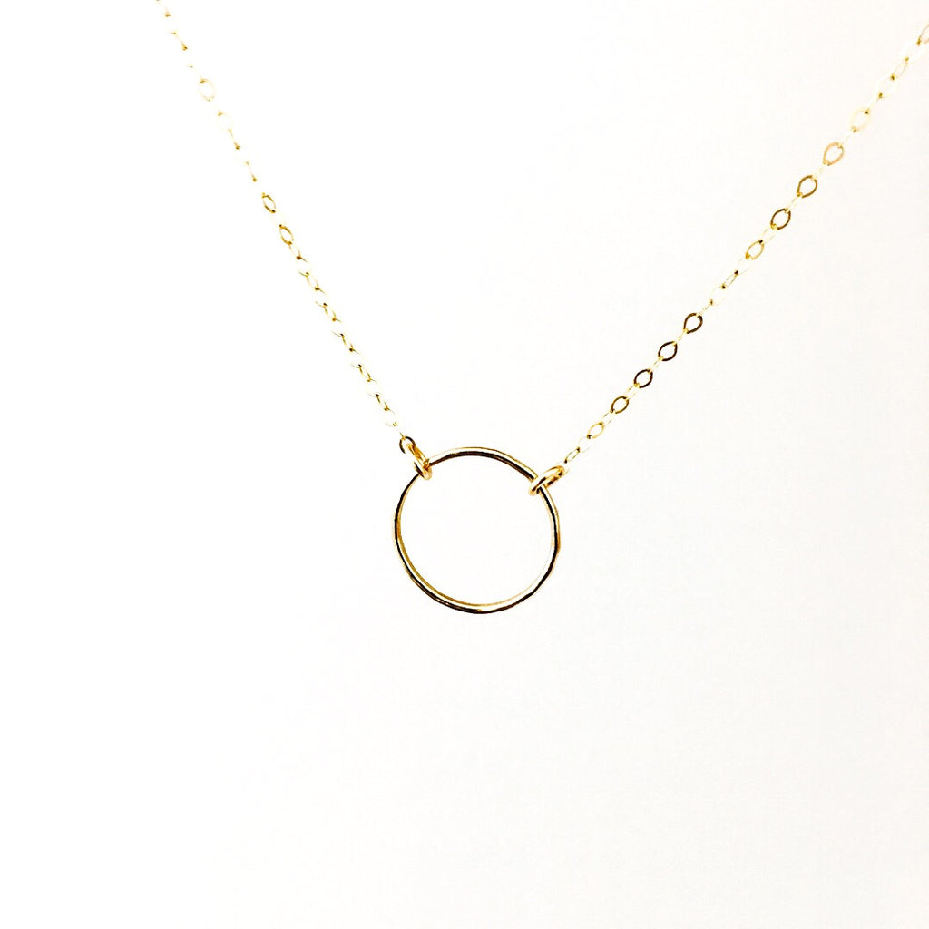 kate circle necklace hand stamped jewellery australia