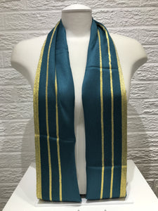 Gold Bordered Pashmina- Emerald Green