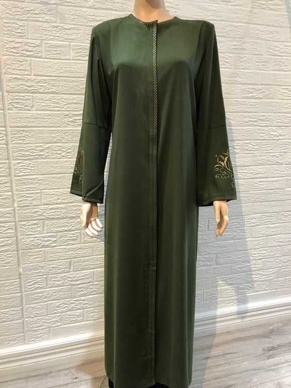 Turkish Abaya, Amina, Khaki