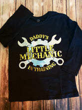 Daddy's Little Mechanic Tshirt - Pitter Patter Baby Boutique