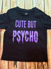 Purple Cute But Psycho Tshirt - Pitter Patter Baby Boutique