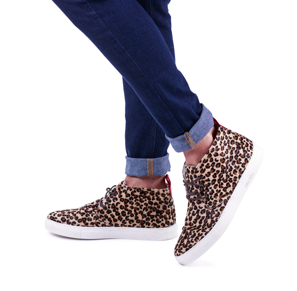 Pony Hair Leopard Chukka