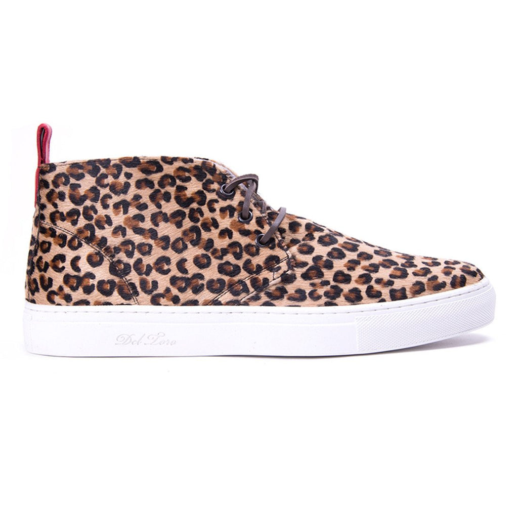 Men's Chukkas - Pony Hair Leopard Chukka