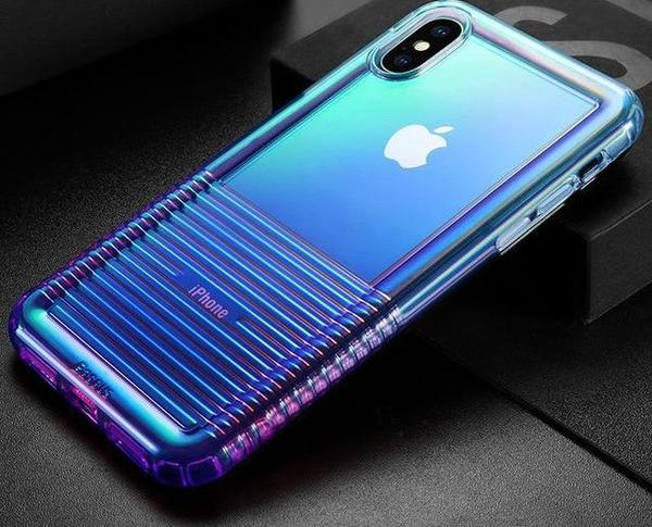 Coque Transparent iPhone Bleu