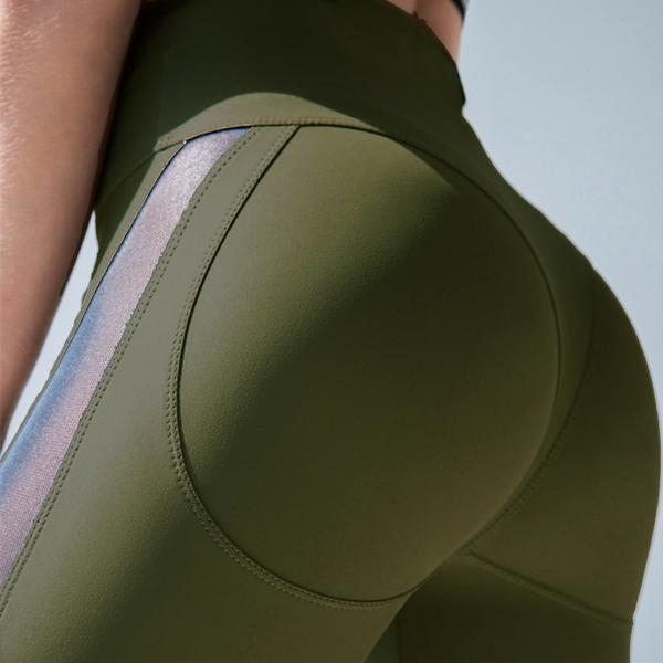 Leggings Push-Up Vert Militaire