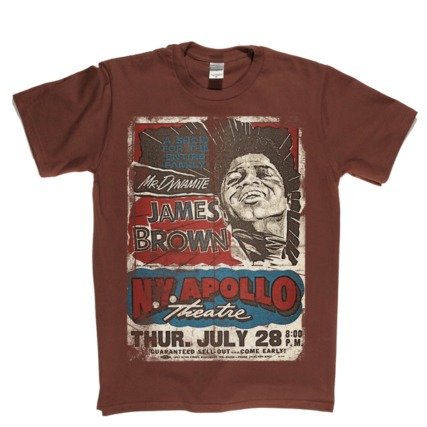 James Brown Apollo Poster T-Shirt