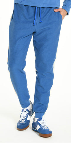 JOGGING PANTS BLUE WITH OFFWHITE STRIP