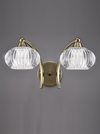 FRANKLITE FL2336/2 RIPPLE DOUBLE WALL LIGHT BRONZE