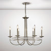 DIYAS IL31705 SASKIA 6 LIGHT PENDANT POLISHED NICKEL