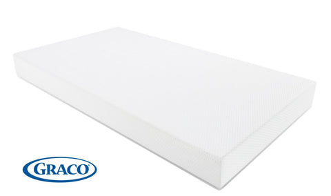 Graco Premium Foam Crib and Toddler Mattress (White) – Ideal Mattress Firmness, Featuring Soft, Water-Resistant, Removable, Hand-Washable Outer Cover