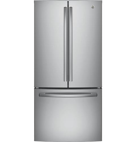 GE 33-inch 18.6 cu. ft. Built-in French Door Refrigerator in Stainless Steel, Counter Depth - ENERGY STAR®