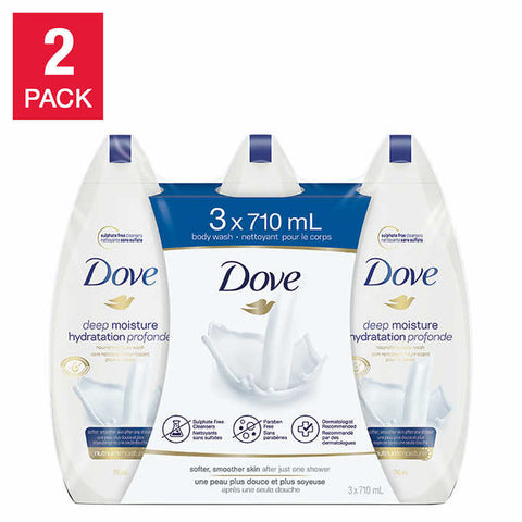 Dove Deep Moisture Body Wash 2-Pack