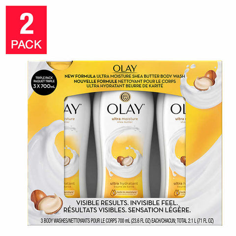 Olay Ultra Moisture Shea Butter Body Wash, 2-pack