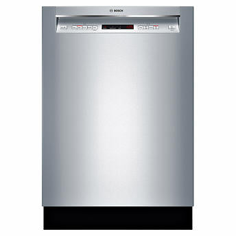 Bosch 300 Series 24 in. Stainless Steel Recessed Handle Dishwasher with Speed60 Cycle