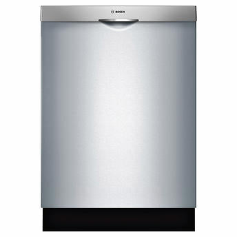 Bosch 300 Series 24 in. Stainless-steel Built-in Scoop Handle Dishwasher