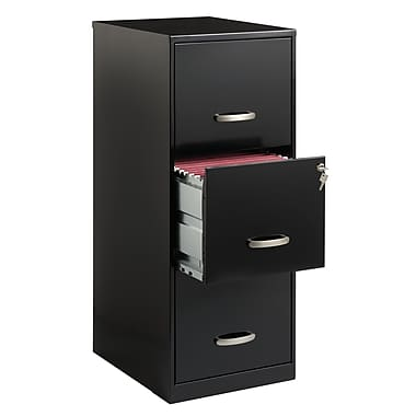 "Office Designs 18"" Deep Vertical File Cabinet, 3-Drawer"
