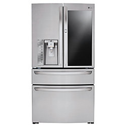 LG Electronics 30 cu. 36 ft. 4-Door French Door Refrigerator with InstaView Door-in-Door in Stainless Steel - ENERGY STAR®