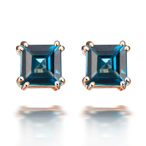 Hestia London Blue Topaz Stud Earrings