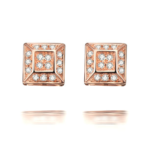 Hestia Diamond Stud Earrings