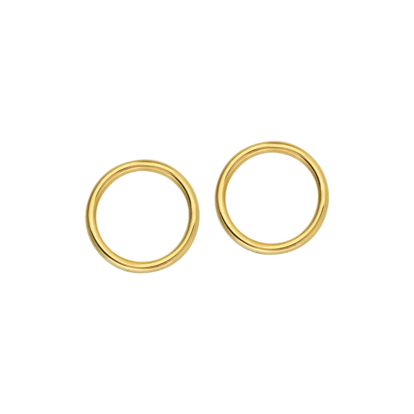 Embrace Gold Open Circle Earrings