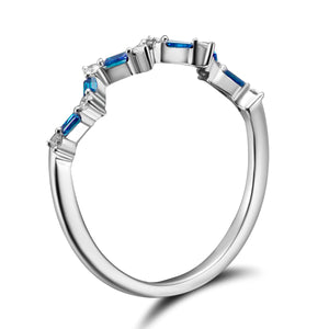 Happiness Stack Ring - Diamonds and Sapphires