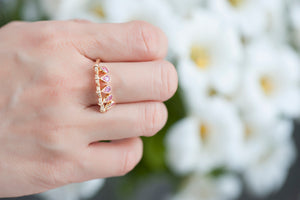 Charleston Ring - Pink Sapphires