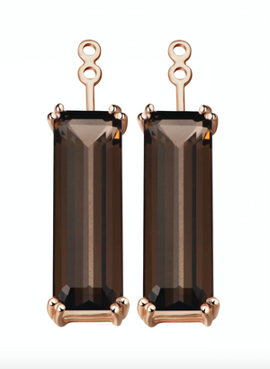Hestia Smoky Quartz Gem Bar Earrings