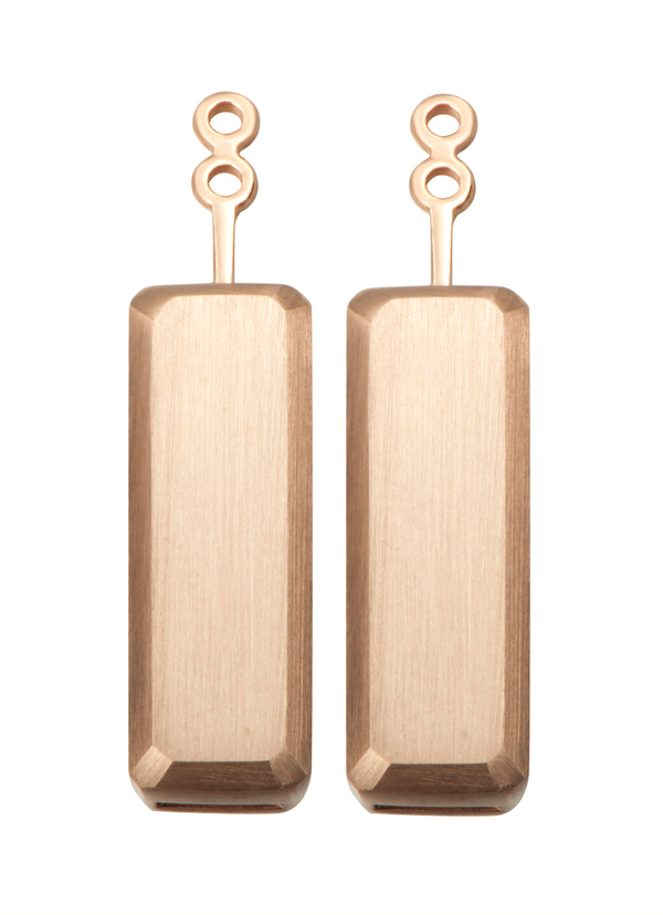 Hestia Rose Gold Bar Earrings