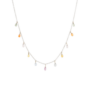 Wisdom Necklace - Colorful Sapphire Drops
