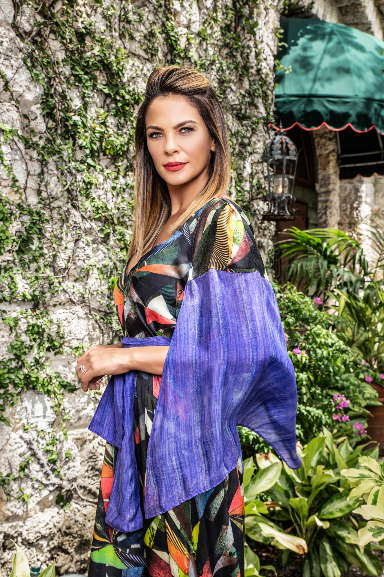 Pinta Kaftan - Color Eclipse Print Dresses - artTECA