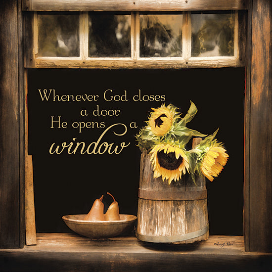 Robin-Lee Vieira RLV531 - God Opens Windows - Sunflower, Bucket, Inspirational, Window, God, Pears from Penny Lane Publishing