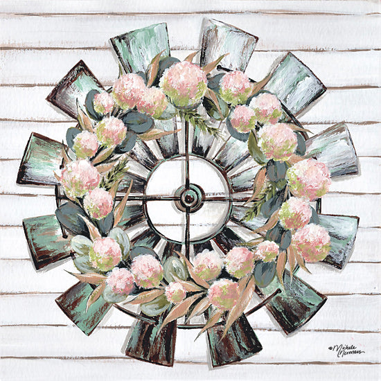 Michele Norman MN185 - MN185 - Farmhouse Florals - 12x12 Farmhouse, Flowers, Windmill, Shiplap, Farm from Penny Lane