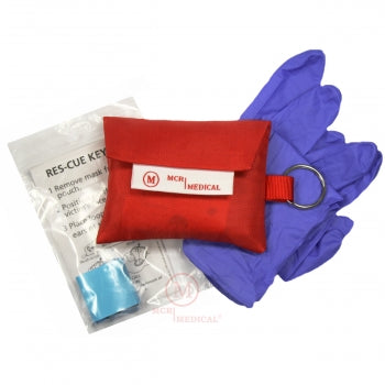 CPR Mask and Gloves Keychain