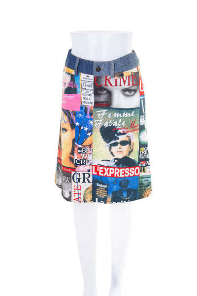 Tabloid Magazine Print Skirt