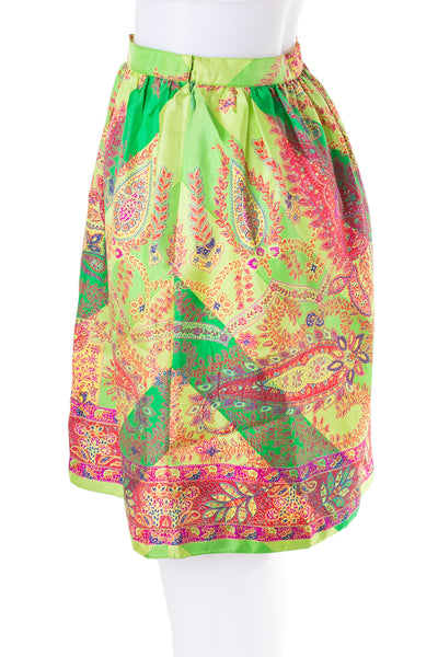 Silk Paisley Skirt