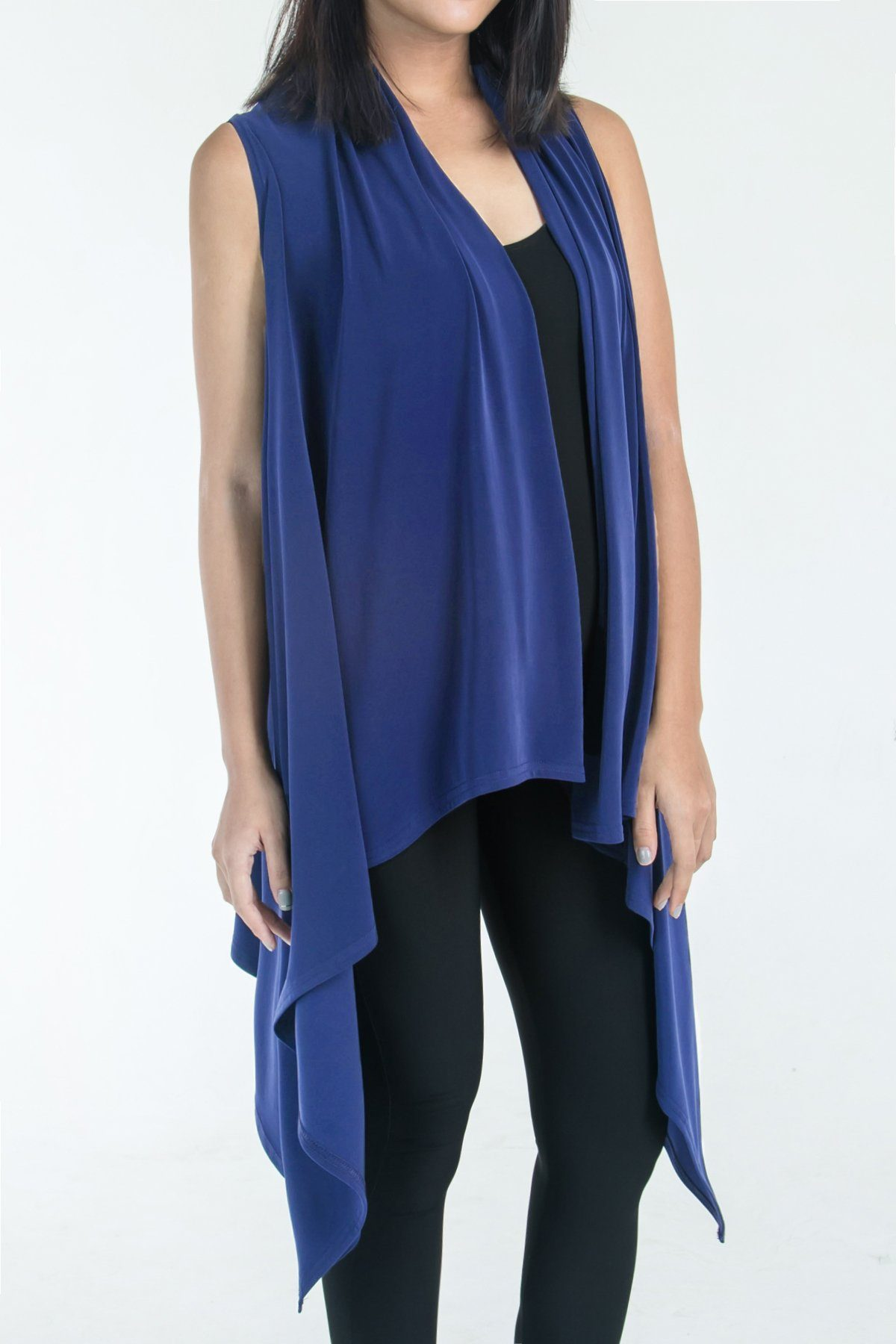 Women's Cobalt Blue Two Way Layering Vest Rosarini