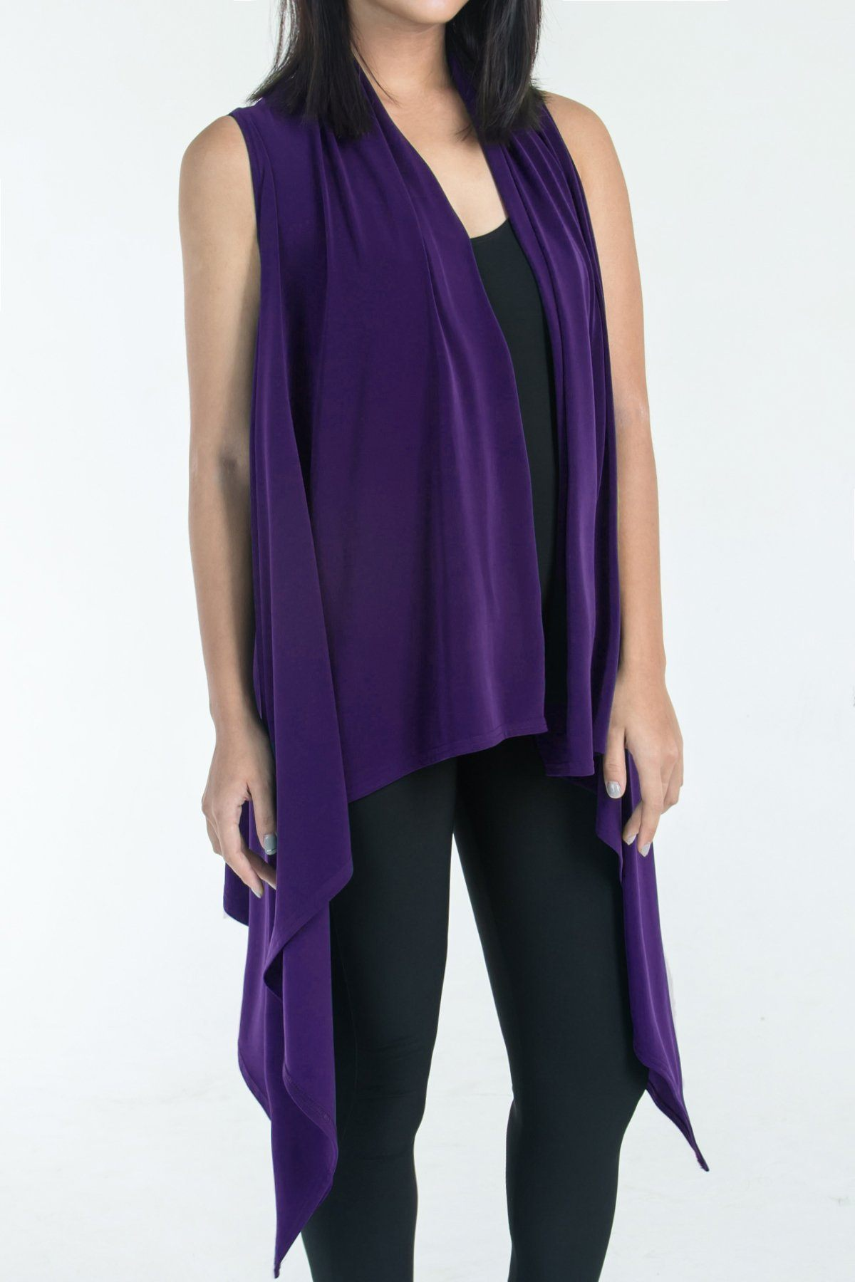 Women's Purple Blue Two Way Layering Vest Rosarini