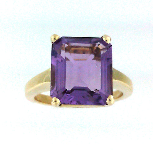 Emerald Amethyst Ring