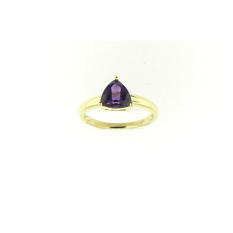 Trillion Cut Amethyst Ring