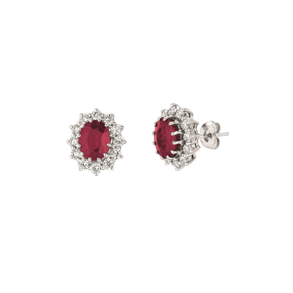OVAL SHAPE RUBY EARRINGS