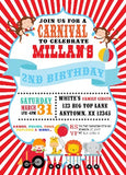 Carnival Theme Digital Party Invitations - Invitetique