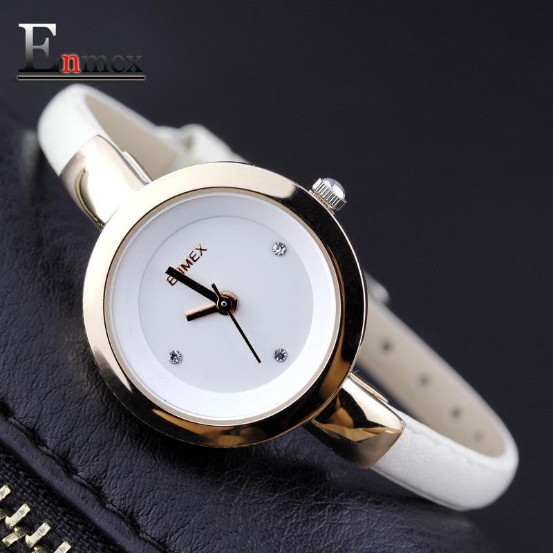Our HOT SELLING Item !  Enmex women creative slim strap watch graceful  girl - Japanese quartz lady watches