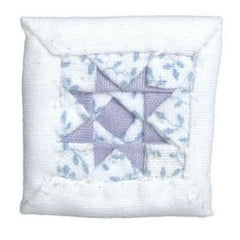 dollhouse miniature quilted throw pillow