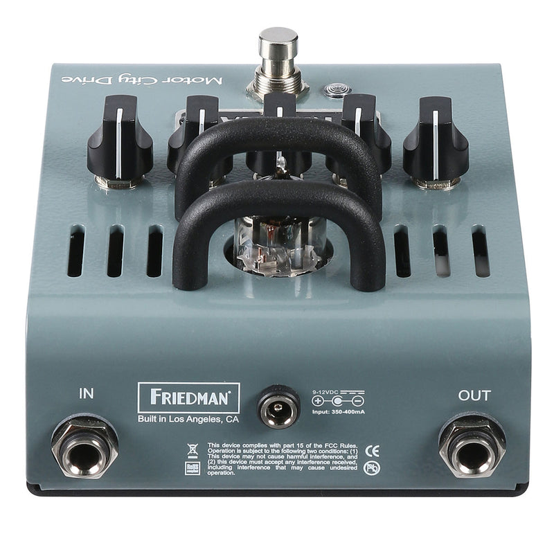 Friedman Amplification Motor City Drive - 12AX7 Tube Powered Overdrive Electric Guitar Effects Pedal