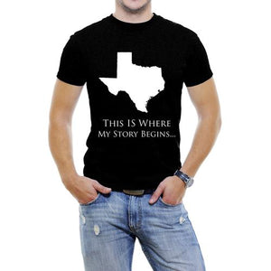 Texas-This Is Where My Story Begins Men T-Shirt
