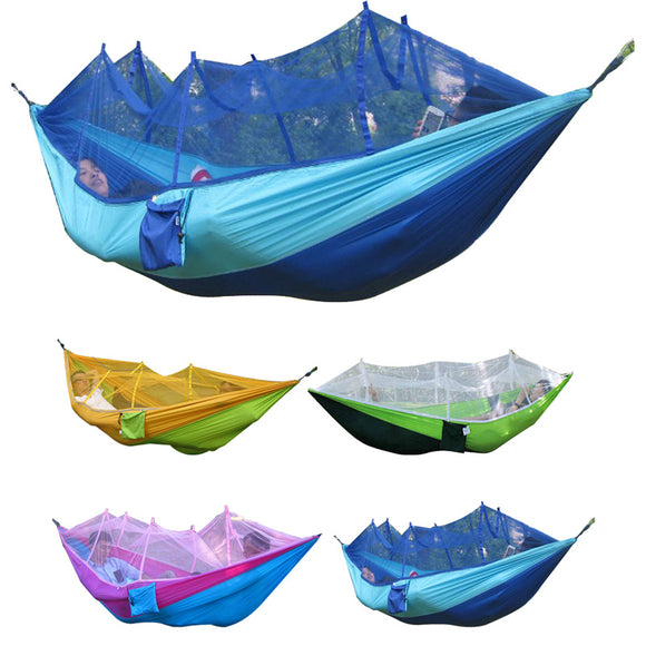 260x130cm Portable Hammock With Mosquito Net