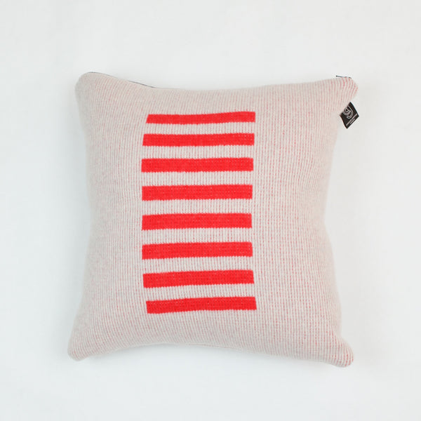 Red Stripe Cushion with Black Zip by Giannina Capitani