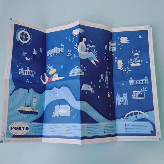 Everybody Loves Porto - Travel Guide unfolded map