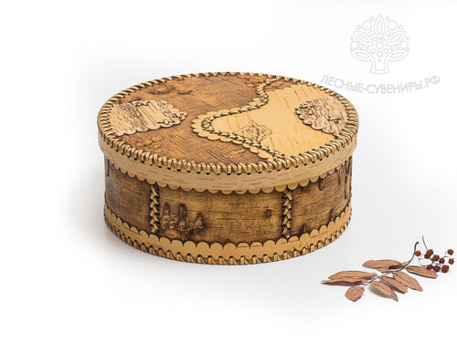Handcrafted natural antiseptic birch bark container