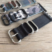 Handmade Smart Apple Watch Strap iwatch Stripe black orange Strap Black Nylon Nato Top IWC Timex Rolex Hamilton Panerai DW band 38 42mm custom made